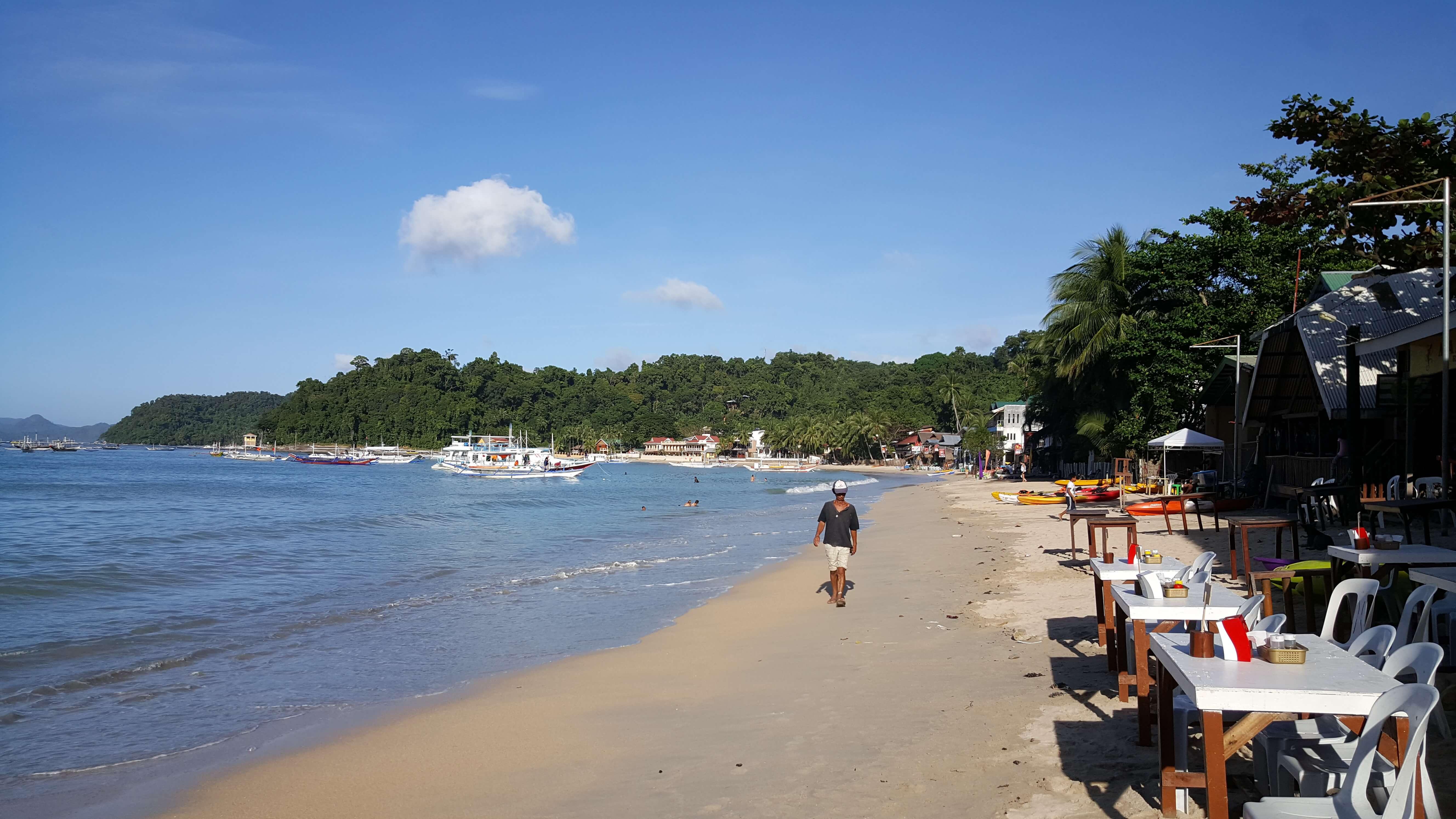 Playa de El Nido Población