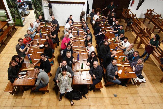 Cena de ponentes y organización